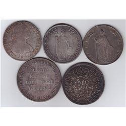 Peru & Brazil Crowns - Lot of 5