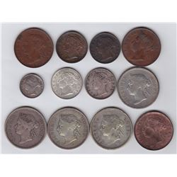 Straits Settlements - Lot of 12