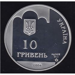 Ukraine 2004 Proof Silver 10 hryvnas 350 Years of the Pereiaslav Cossack Rada 1654