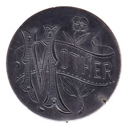 United States of America Love Token on 1878 Silver Dollar