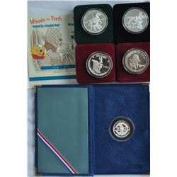 World - Lot of 5 Pure Silver 1 oz Coins