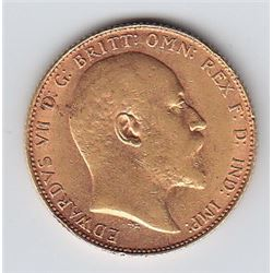 World Gold - Great Britain Gold Sovereign, 1910