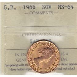 World Gold - Great Britain Gold Sovereign, 1966