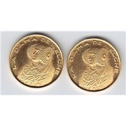 World Gold - Lot of 2 La Dama de Elche Lady of Elche in Lliria