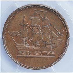Newfoundland Half Penny Token, 1858