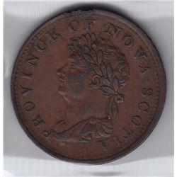 Nova Scotia Halfpenny Token, 1823