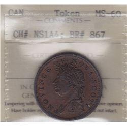 Nova Scotia Half Penny Token, 1823