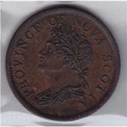 Nova Scotia One Penny Token, 1824