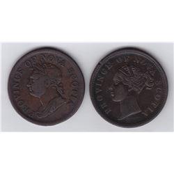 Nova Scotia One Penny Tokens.