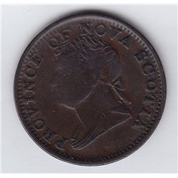 Nova Scotia Counterfeit Halfpenny Token, 1832