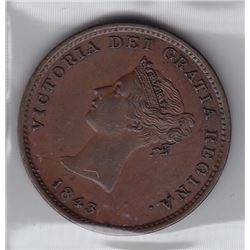 New Brunswick Half Penny, 1843