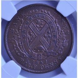 1842 Province of Canada Half Penny