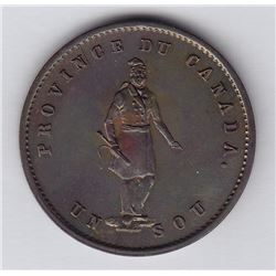 Quebec Bank Token, 1852