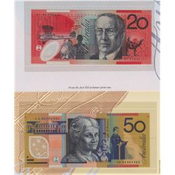 Lot of Three Australia First Polymer Notes in Display Folders