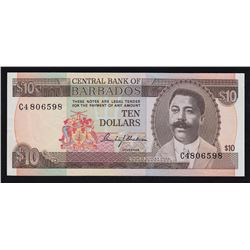 Central Bank of Barbados $10, 1973