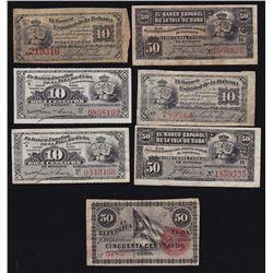 Cuba Banknotes - Lot of 7