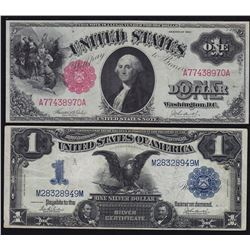 1899 Silver Certificate $1 & 1917 United States of America $1