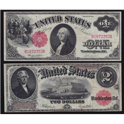 1917 United States of America $1 & $2 Notes
