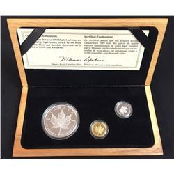 1979-1989 Comm. Proof Gold, Silver and Platinum 10th Anniv. Maple Leaf Coin Set