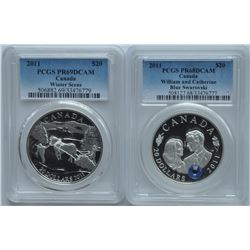 2011 Winter Scene & William and Catherine $20 Coins