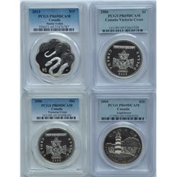 Lot of Four Modern Proof PCGS Graded Coins