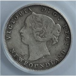 1885 Newfoundland Five Cents