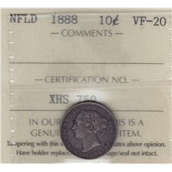 1888 Newfoundland Ten Cents