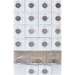 Newfoundland Ten Cents - Lot of 21