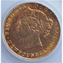 1888 Newfoundland $2 Gold