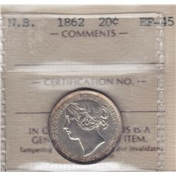 1862 New Brunswick Twenty Cents
