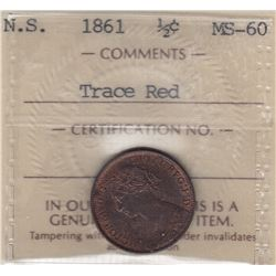 1861 Nova Scotia Half Cent