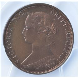 1861 Nova Scotia One Penny  - Specimen