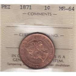 1871 Prince Edward Island One Cent