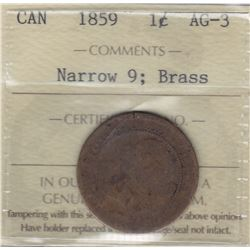 1859 One Cent - Brass
