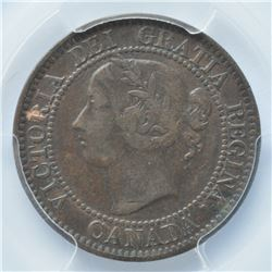 1859 One Cent - Double Punch, Narrow 9