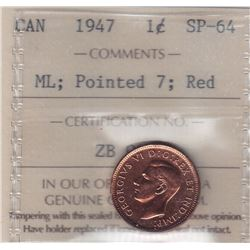 1947 Specimen One Cent