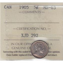 1905 Five Cents