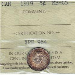 1919 Five Cents