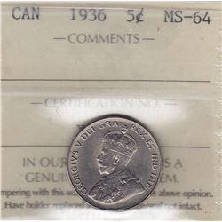 1936 Five Cents