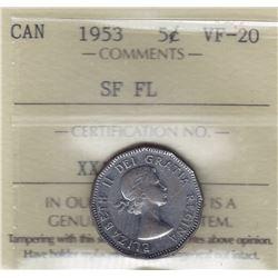 1953 Five Cents Mule