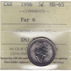 1996 Five Cents