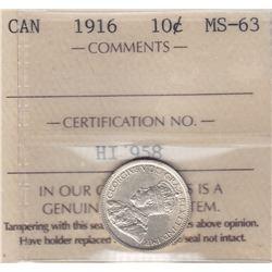 1916 Ten Cents