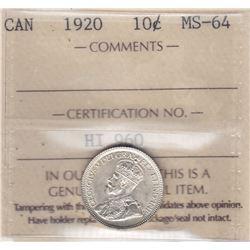 1920 Ten Cents