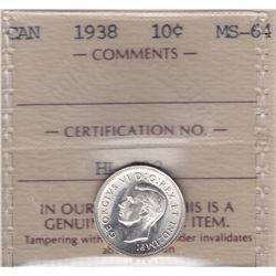 1938 Ten Cents