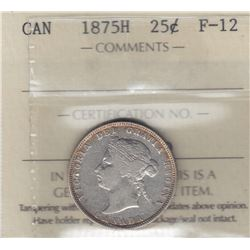1875H Twenty Five Cents
