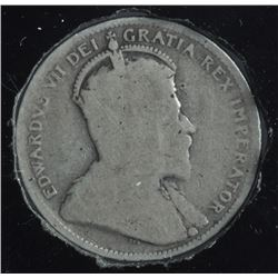 1906 Twenty Five Cents - Small Crown