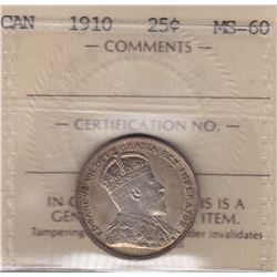 1910 Twenty Five Cents