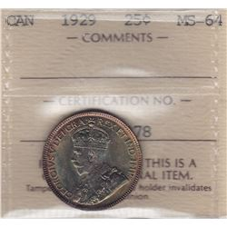 1929 Twenty Five Cents