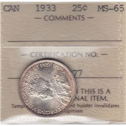1933 Twenty Five Cents