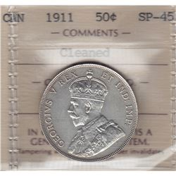 1911 Fifty Cents - Specimen